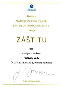 Záštita Jiří Drahoš